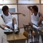【ゲイ動画】部活をさぼっていたバスケット部員が2人きりの教室でじゃれ合ってるうちにBL行為