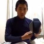 【無修正 ゲイ動画】坊主頭の完全素人のイケメン高校生野球部員が自撮りオナニー映像がネット流出