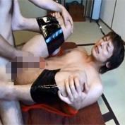 【ゲイ動画】ノンケのジャニ系イケメンの手足ガムテープで拘束してアナル調教レイプ!