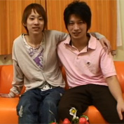 【無修正 ゲイ動画】本物素人BLカップル堤康介(22歳)×丸山毅(20歳)がゲイアダルト出演してカメラの前でアナルセックス!